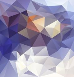 winter snow blue polygon triangular pattern vector image