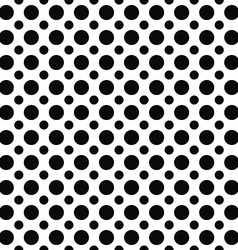 Monochrome dot repeat pattern vector