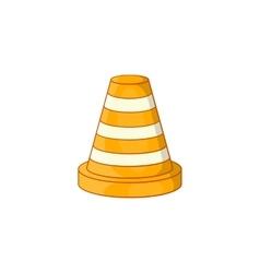 Road repair sign icon cartoon style vector