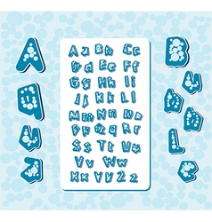 Aqua bubble letters vector