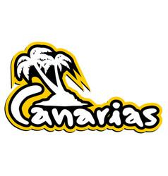 Canarias sticker vector