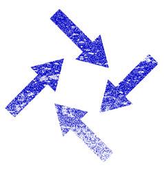 Centripetal arrows grunge textured icon vector
