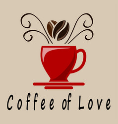Coffee of love vector