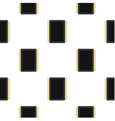 Computer electronic circuit board pattern flat vector