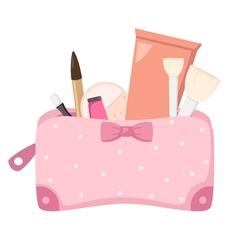 cosmetics bag vector image vector image