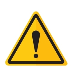 Danger warning exclamation point sign icon vector image vector image