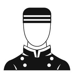 Doorman icon simple style vector