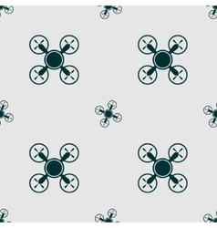 Drone quadrocopter icon seamless pattern vector image vector image