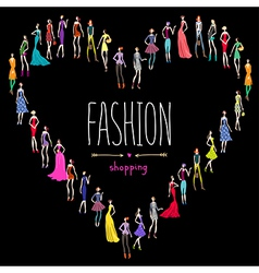 Fashion shopping love vector image