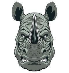 Ferocious rhinoceros head vector