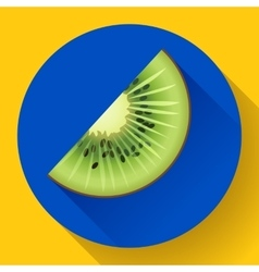 Fruit kiwi icon flat style vector image vector image