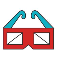 Glasses 3d cinema icon vector