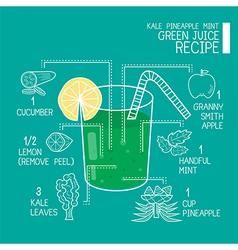 Green juice recipes great detoxifier vector