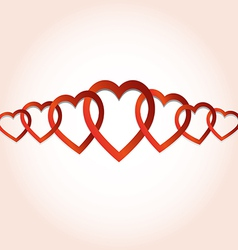 Hearts connected vector