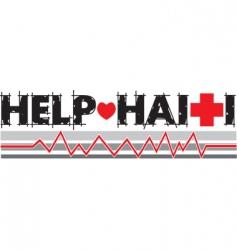 Help haiti text vector