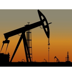 image of oil derricks on the ground vector image vector image