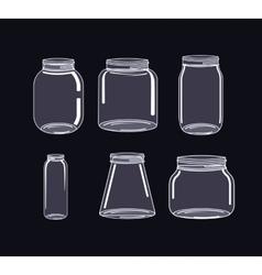 Jar mason fashion glass vector