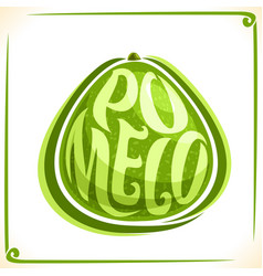 Logo for fresh pomelo vector