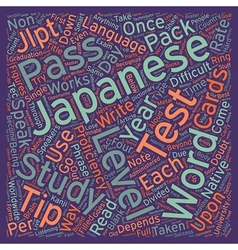 Pass the japanese language proficiency test tips vector