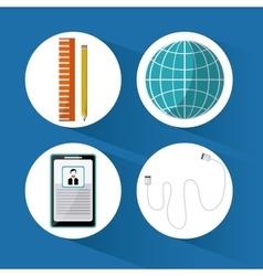 SEO icons design vector image