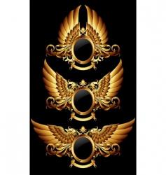 Set of heraldic shields vector