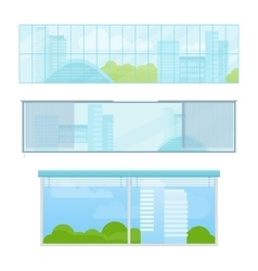 Set of Windows In Flat Style vector image vector image