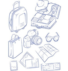 Sketch of travel object symbol vector