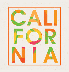 stylish california design poster vector image vector image