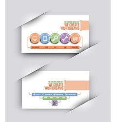 Tech Multipurpose Business Card Set vector image