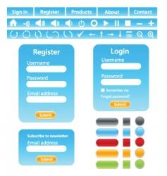 web site design elements vector image vector image