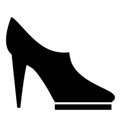 Women high heeled shoes icon simple style vector