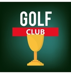 golf club golfing related icons image vector image