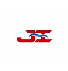 Ji company linked letter logo vector