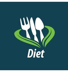 logo for diet vector image