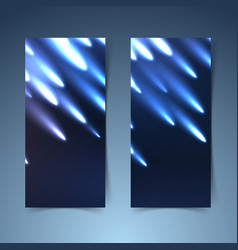Shooting meteors banner collection layout vector