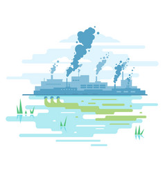 industrial pollution of nature vector image