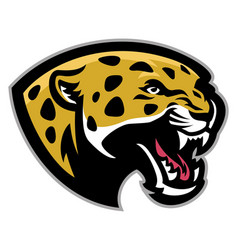 angry leopard mascot vector image