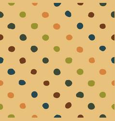 Polka dots seamless pattern colorfu vector