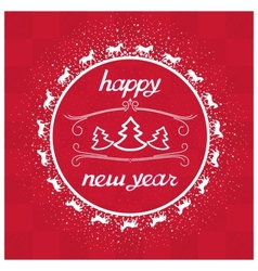 Happy New Year Card greeting vector image