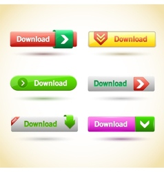 Rectangle web buttons set vector