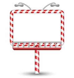 Candy cane billboard on white vector