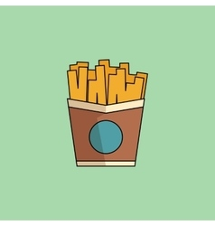 Icon french fries in minimalist style vector