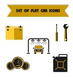 Set car color flat icon vector