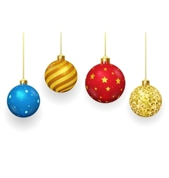 Christmas balls isolated on white background vector