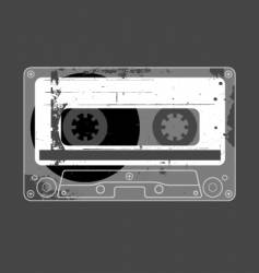 Audio cassette tape grunge vector