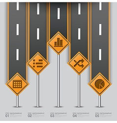 Road and street traffic sign business infographic vector