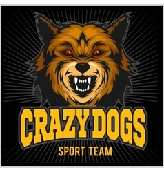 Angry dog - sport team vector image