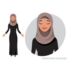 Beautiful young eastern woman relax and enjoy vector