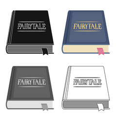 Book with fairytales icon in cartoon style vector