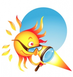 burning sun vector image